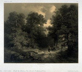 Route de Jussey, near Geneva, Suisse (1853) from Fifty lithographs from Oeuvres de A. Calame
