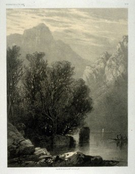 Lac des quatre cantons, from Two lithographs from Oeuvres de A. Calame
