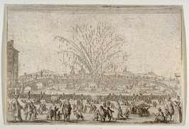 "Le feu d'artifice sur l'Arno (A Festival on the Arno), plate 45 from ""Les Caprices"""