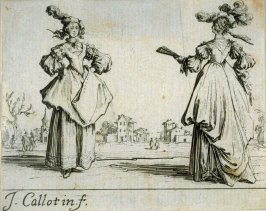 Two Ladies Standing (Deux dames de condition debout)