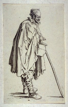 """Le Mendiant au Couvet, plate 4 from """"The Beggars"""""""