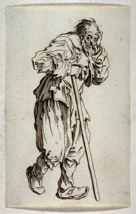 "Le Lueux Appuye sur son Baton, plate 19 from ""The Beggars"""