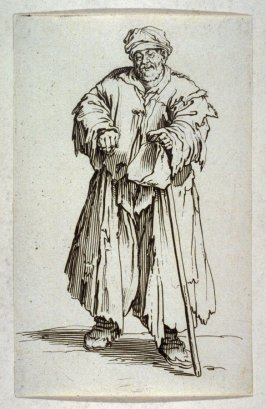"""Le Mendiant Obese aux Yeux Baisses, plate 21 from """"The Beggars"""""""