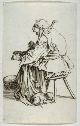 """La Vieille aux Chats, plate 24 from """"The Beggars"""""""