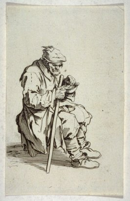 """Le Gueux Assis et Mangeant, plate 23 from """"The Beggars"""""""
