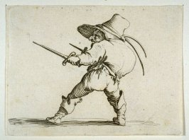 """Le Duelliste a L'Epee at au Poignard, plate 9 from """"Les Gobbi"""""""