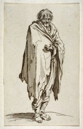 Beggar with his head uncovered and with bare feet, from The Beggars