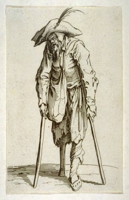 Beggar with a wooden leg, from The Beggars