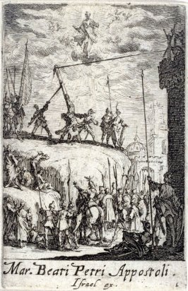 Martyrdom of St Peter, from The Martyrdom of the Apostles (M.B. Petri Appost.)