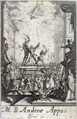 Martyrdom of St Andrew, from The Martyrdom of the Apostles