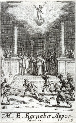 Martyrdom of St Barnabus, from The Martyrdom of the Apostles
