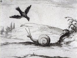 Crow and the Snail, plate 8 from Lux Claustri