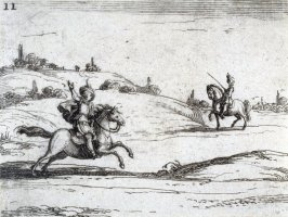 Two Riders, plate 11 from Lux Claustri