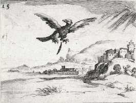 Eagle Losing a Feather, plate 15 from Lux Claustri