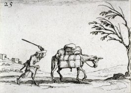 (Peasant striking his donkey, plate 25 from Lux Claustri