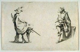 """Deux Personnages Assis, plate 4 from """"Les Caprices"""""""