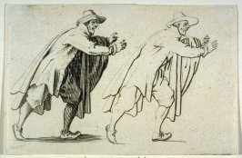 """L""""Homme qui Court, plate 16 from """"Les Caprices"""""""