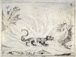 Salamandre Marchant dans les Flammes, plate 2 from Life of the Virgin in Symbols