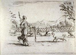 The huntress, plate 18 from Life of the Virgin in Symbols