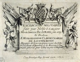 (Frontispiece) Les Exercises Militaires, Twelve copies after the set of thirteen etchings