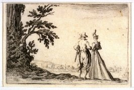 The Promenade, pl. [7] from the second edition of the series Capricci di varie figure