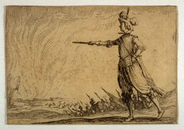 The Commander on Foot, pl. [58] from the second edition of the series Capricci di varie figure