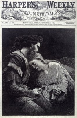 Lancelot and Guinevere - Title page Harper's Weekly 1 September 1877