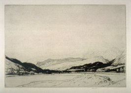 Untitled (Valley with houses in distance)