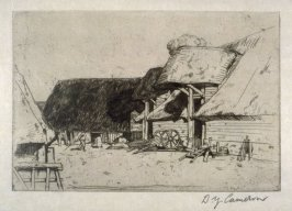 Old Farm-Morrington-England from the Set of Twenty Etchings, illustrations for Compleat Angler by Isaac Walton, London 1902.