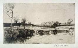 The Lea, near Ryehouse from the Set of Twenty Etchings, illustrations for Compleat Angler by Isaac Walton, London 1902.