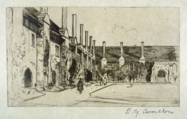 Almshouses, St. Cross from the Set of Twenty Etchings, illustrations for Compleat Angler by Isaac Walton, London 1902.