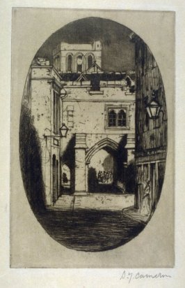 Kingsgate, Winchester from the Set of Twenty Etchings, illustrations for Compleat Angler by Isaac Walton, London 1902.