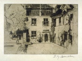 The Deanery, Winchester from the Set of Twenty Etchings, illustrations for Compleat Angler by Isaac Walton, London 1902.