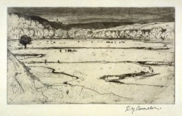 The Windings of the Wye from the Set of Twenty Etchings, illustrations for Compleat Angler by Isaac Walton, London 1902.