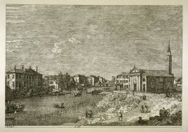 Reproduction of the etching, Al Dolo, pl. 4 in the book, Les Eaux-fortes de Canaletto (Venice: Daria Guarnati, [1945])