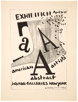 The American Abstract Artists Portfolio, Title Page: Exhibition April 3-17, 1937, Squibb Galleries, New York