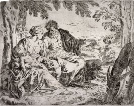 Rest on the Flight into Egypt, after the etching by Cantarini