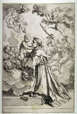 St Anthony of Padua Adoring the Christ Child in Glory