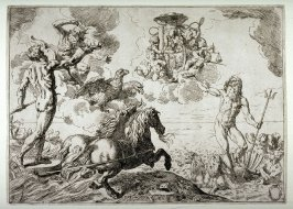 Quos Ego (Jupiter, Neptune and Pluto offering their crowns to the arms of Cardinal Borghese)
