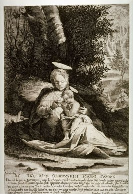 Madonna and Child Beside a Fountain, after the painting by Rutilio Manetti, The Rest on the Flight into Egypt