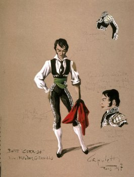 "Costume Sketch for the ""Matador Gitanillo"" in Corrida"