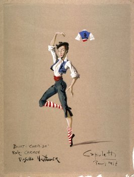 Corrida- Costume Sketch for Carmen (Le Grand Ballet du Marquis de Cuevas, Paris, 1957)