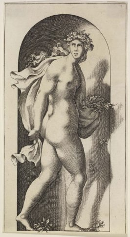 Proserpina, after Jacopo Caraglio's engraving after Rosso Fiorentino