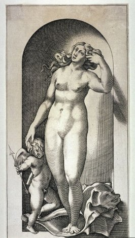 Venus, after Jacopo Caraglio's engraving after Rosso Fiorentino
