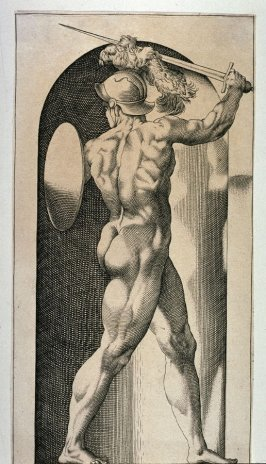 Mars, after Jacopo Caraglio's engraving after Rosso Fiorentino