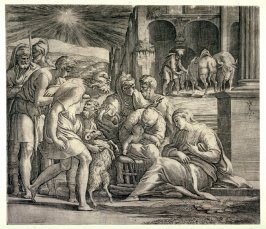 The Adoration of the Shepherds, after Parmigianino