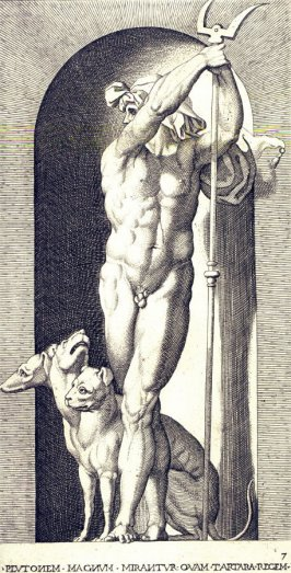 Pluto, after Rosso Fiorentino, retouched by Francesco Villamena. From the series Mythological Gods and Goddesses