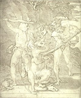 Hercules Killing the Hydra of Lerna