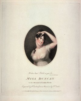 Miss Duncan in the character of Letitia Hardy