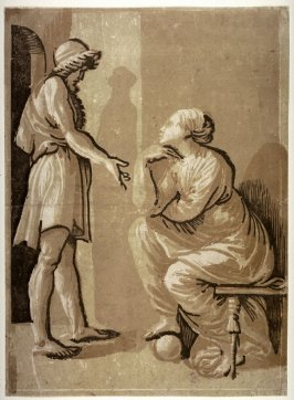 Raphael and his Mistress, after a chiaroscuro woodcut by Ugo da Carpi